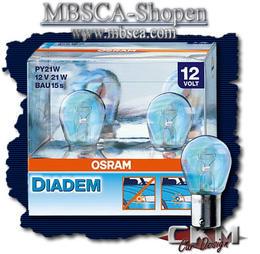 Klarglas Blinkers Lampa Krom/Blå 2st