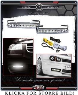 LED belysning halvljusersättare 2st